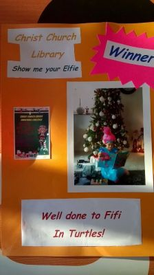 WINNER of Elfie Selfie competition was from Turtles class, they received their prize of a Ten book gift set.