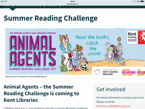 Summer Reading Challenge 'Animal Agents' 2017